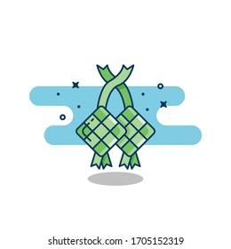 ketupat icon images stock photos vectors shutterstock https www shutterstock com image vector ketupat vector illustration ramadan icon flat 1705152319