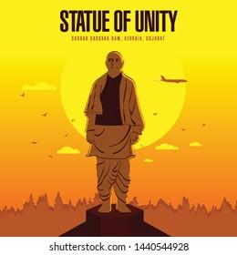 Kevadia/Gujarat/India - December 23, 2018, Sri Sardar Vallabhai Patel, Statue of unity