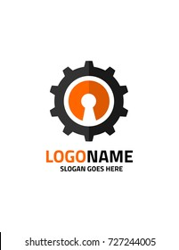 Key abstract logo template vector