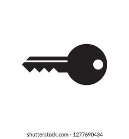 Key - black icon on white background vector illustration for website, mobile application, presentation, infographic. Access login concept sign design. Password symbol.