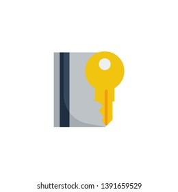 key card icon vector illustration