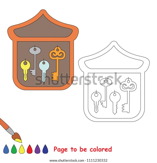 Key Holder Be Colored Coloring Book Stock Vector (Royalty ...