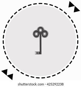 Key icon Flat Design. Isolated Illustration.