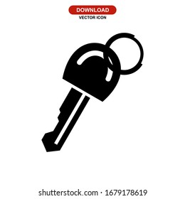 key icon or logo isolated sign symbol vector illustration - high quality black style vector icons