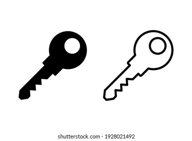 Key icon set. Key vector icons. Key symbols