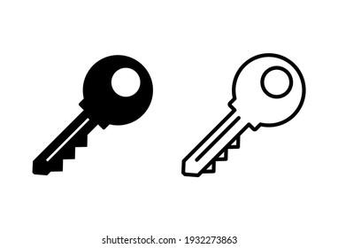Key icon set. Key vector icon. Key symbol