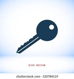 key icon, vector best flat icon, EPS