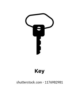 Key icon vector isolated on white background, logo concept of Key sign on transparent background, filled black symbol