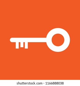 Key, lock icon, stock vector illustration, EPS10.