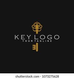 Key Logo Design Vector