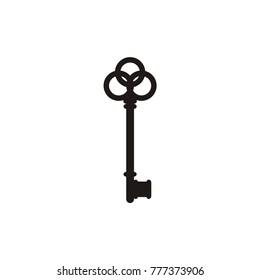 Key logo, key icon design template vector