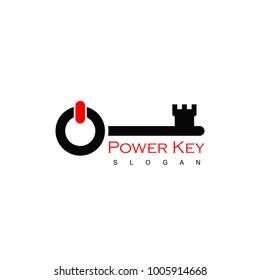 Key Logo, With Power Symbol