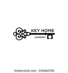 key logo for real estate company - Vector - key home
