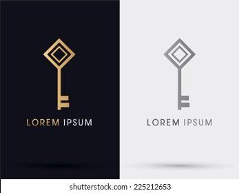 Key logo, symbol, icon,graphic,vector.