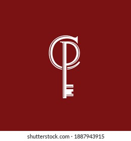 Key logo that formed letter C and letter P