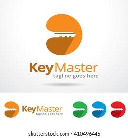 Key Master Logo Template Design Vector