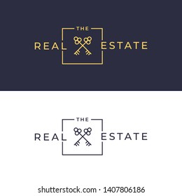 Key real estate badge logo template