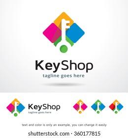 Key Shop Logo Template Design Vector