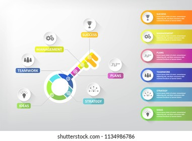 Key step to success of business,Vector illustration design,EPS10.