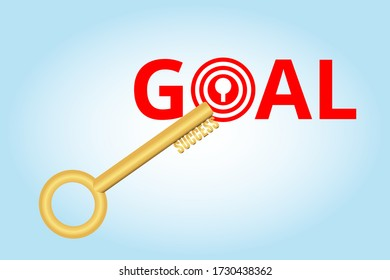 key to success reach to Goal and Target.