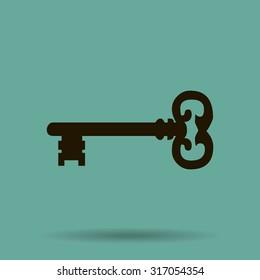 Key. Vector icon