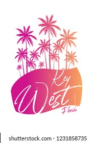 key west florida colorful poster beach apparel distressed