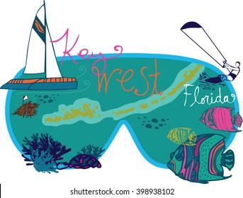 Key West Florida Graphic