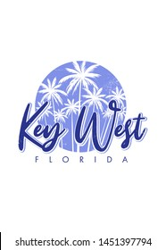 key west florida paradise sunset palm tree vacations apparel