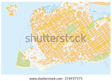 Key West Road Map Florida United Stock Vector (Royalty Free ...