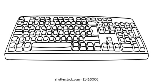 Keyboard Drawing Images Stock Photos Vectors Shutterstock