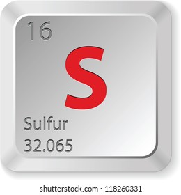 keyboard button-sulfur element