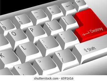 Keyboard with destroy enter key
