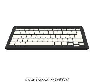 keyboard device computer pc typescript alphabet qwerty button vector  isolated illustration