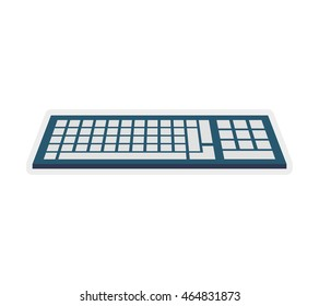 keyboard gadget technology icon. Isolated and flat illustration. Vector graphic