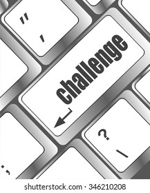 Keyboard with hot key for challenge vector illustration