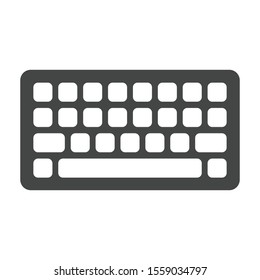 Keyboard icon isolated on white background. Wireless symbol modern, simple, vector, icon for website design, mobile app, ui. Vector Illustration