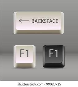 keyboard keys. EPS 10