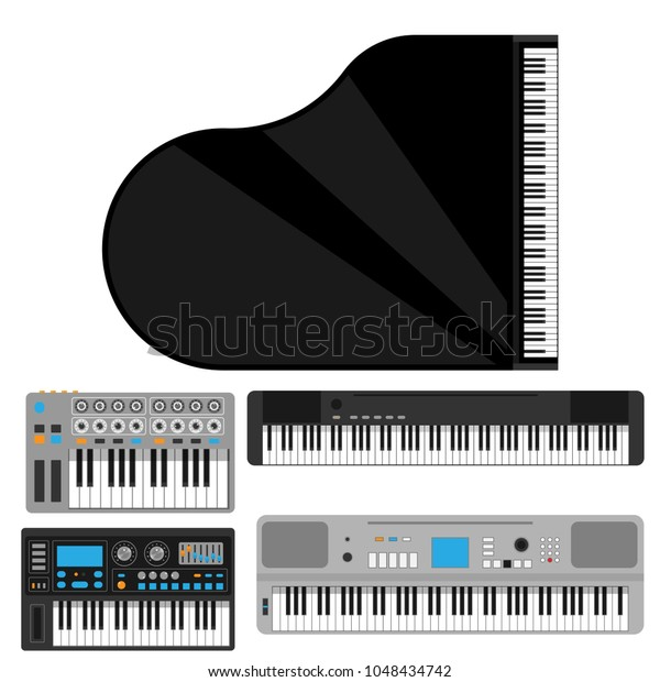 Keyboard Musical Instruments Vector Classical Piano Stock Vector