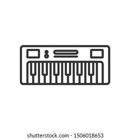Keyboard  Musical tool vector icon