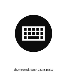Keyboard rounded icon