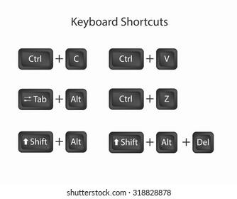 Keyboard Shortcuts Keys. Keyboard Shortcuts Keys icons. Keyboard Shortcuts Keys set to cut copy paste cancel. Keyboard Shortcuts Keys vector graphic illustratio. Keyboard Shortcuts Keys esp 10