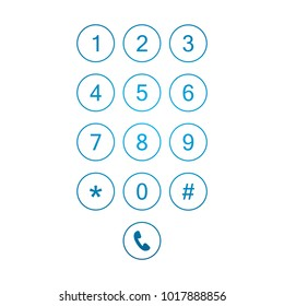 Keyboard smartphone number