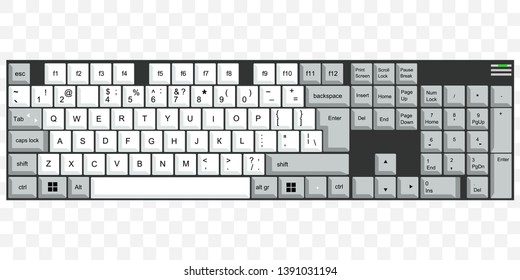 keyboard vector illustration on white background