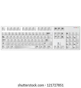 keyboard white vector illustration