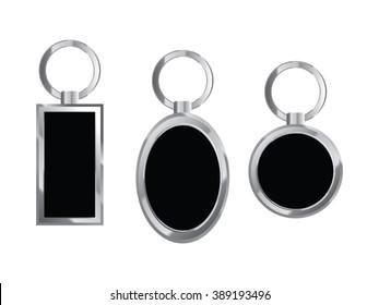 Keychain, square, round, rectangular