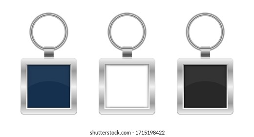 Keychain vector design illustration isolated on white background