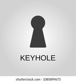 Keyhole icon. Keyhole symbol. Flat design. Stock - Vector illustration