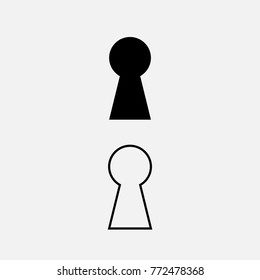 Keyhole icon vector design