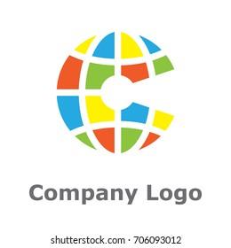 Keyhole & letter C logo concept