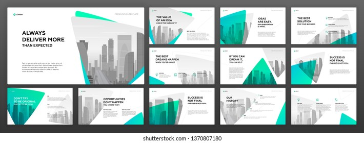 Keynote presentation templates set. Use for modern powerpoint presentation background, brochure cover design, website slider, landing page, annual report, company profile.